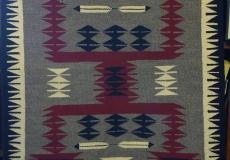 Original Hand-woven Navajo Rug Arizona/New Mexico Origin-Storm Pattern