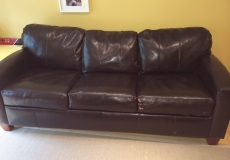 SOLD -- Leather Sofabed