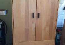 Room & Board Linear Armoire in Solid Maple