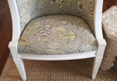 Pair of Vintage Barrel Back Chairs