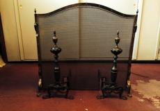 Antique Brass Fireplace Screen