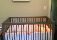 Oeuf Sparrow Crib - Gray