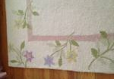 Pottery Barn 8x10 ft Ivory and Floral Border Rug
