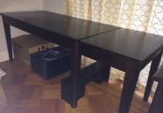 Crate & Barrel Desk & File Cabinet