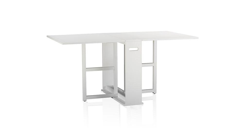 Crate & Barrel Gateleg Dining Table