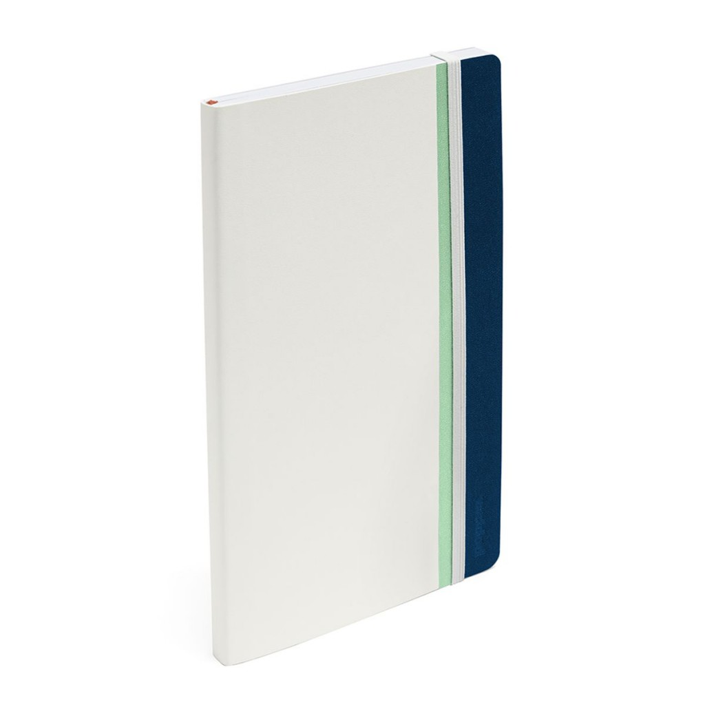 Poppin White and Blue Notebook