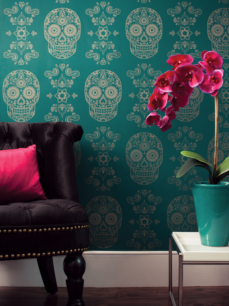 Day-of-the-Dead-Sugar-Skull-Wallpaper