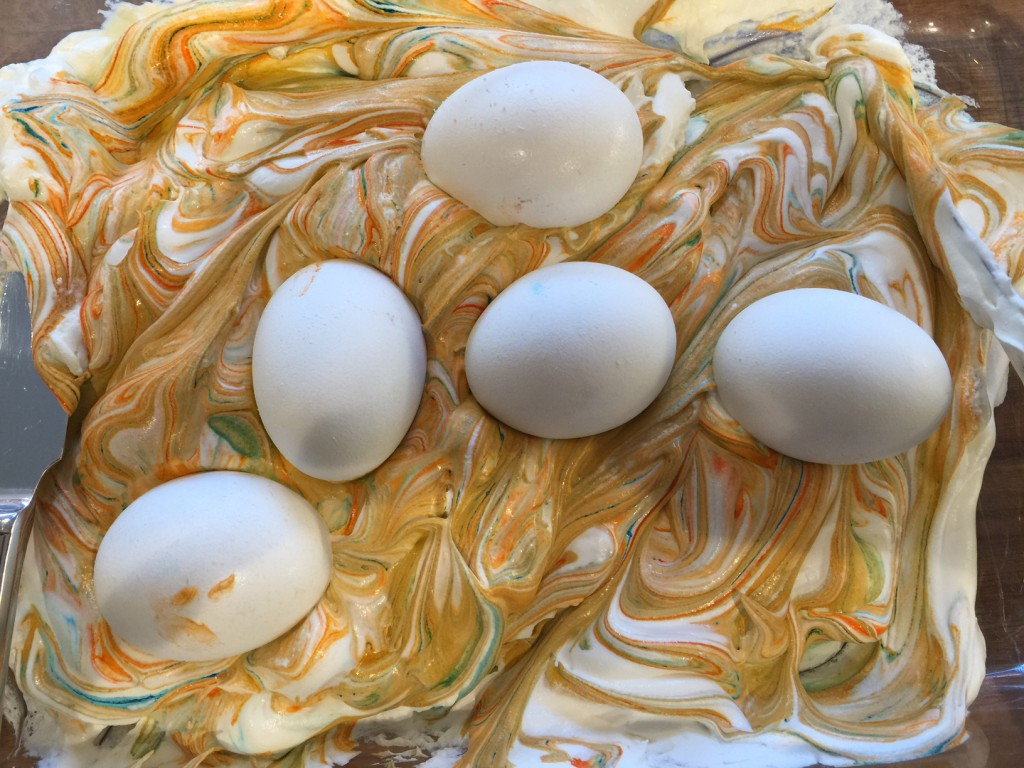 Swirly with eggs