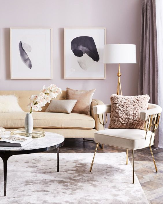 Lavender Living Room Paint