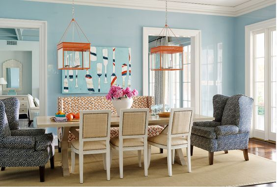 Blue Dining Room wall paint