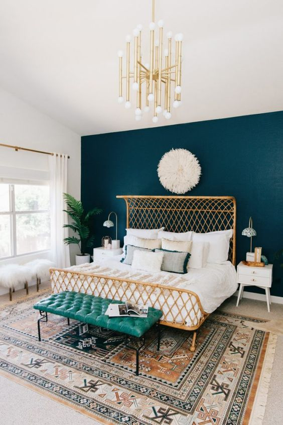 Navy Blue Bedroom Wall Paint