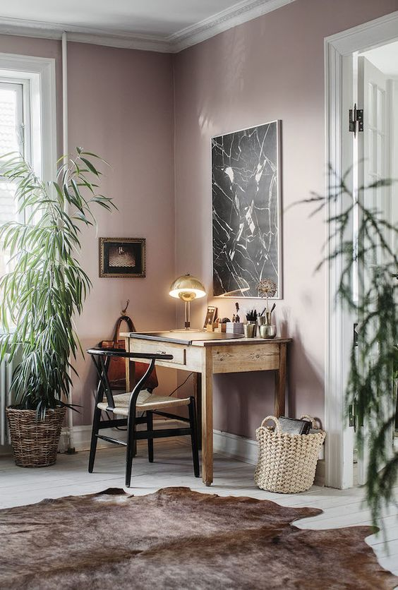 Blush Office Wall paint