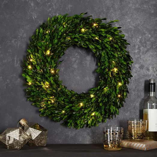West Elm Boxwood Wreath
