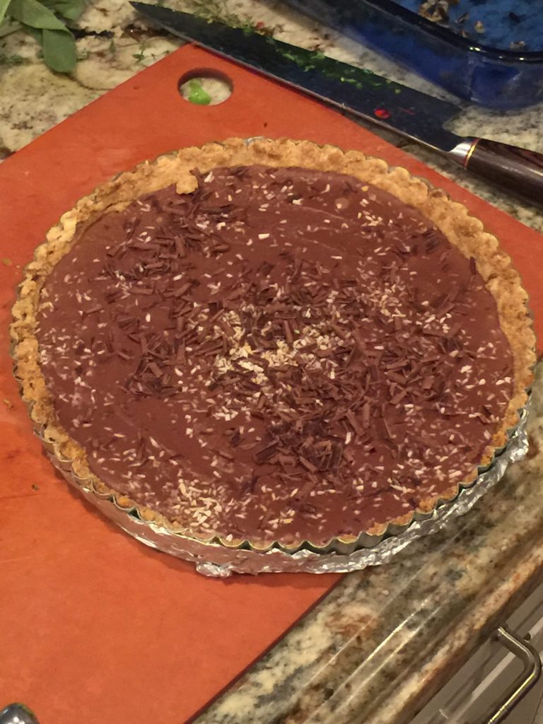 Amanda Skrip Cooking Class, Chocolate Coconut Tart