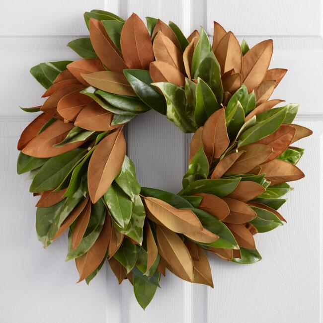 Cost Plus World Market Magnolia Wreath