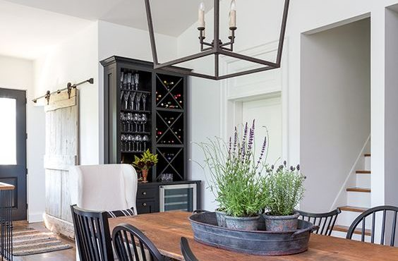 Dark metal kitchen lantern