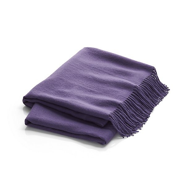 Lima Alpaca Purple Throw | Crate & Barrel