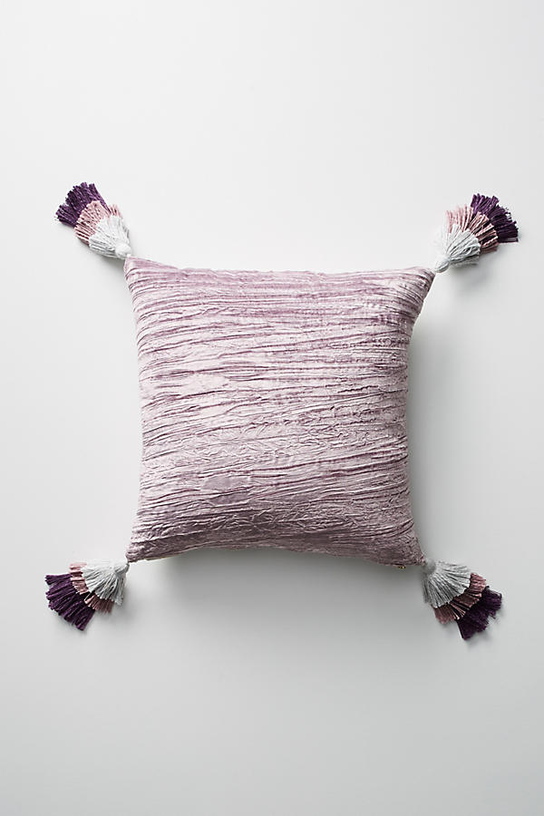 Velvet Tasseled Pillow | Anthropologie