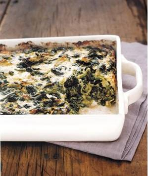 Real Simple Spinach and Gruyere Gratin