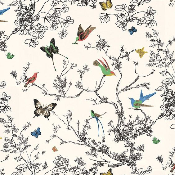 Birds & Butterflies F Schumacher