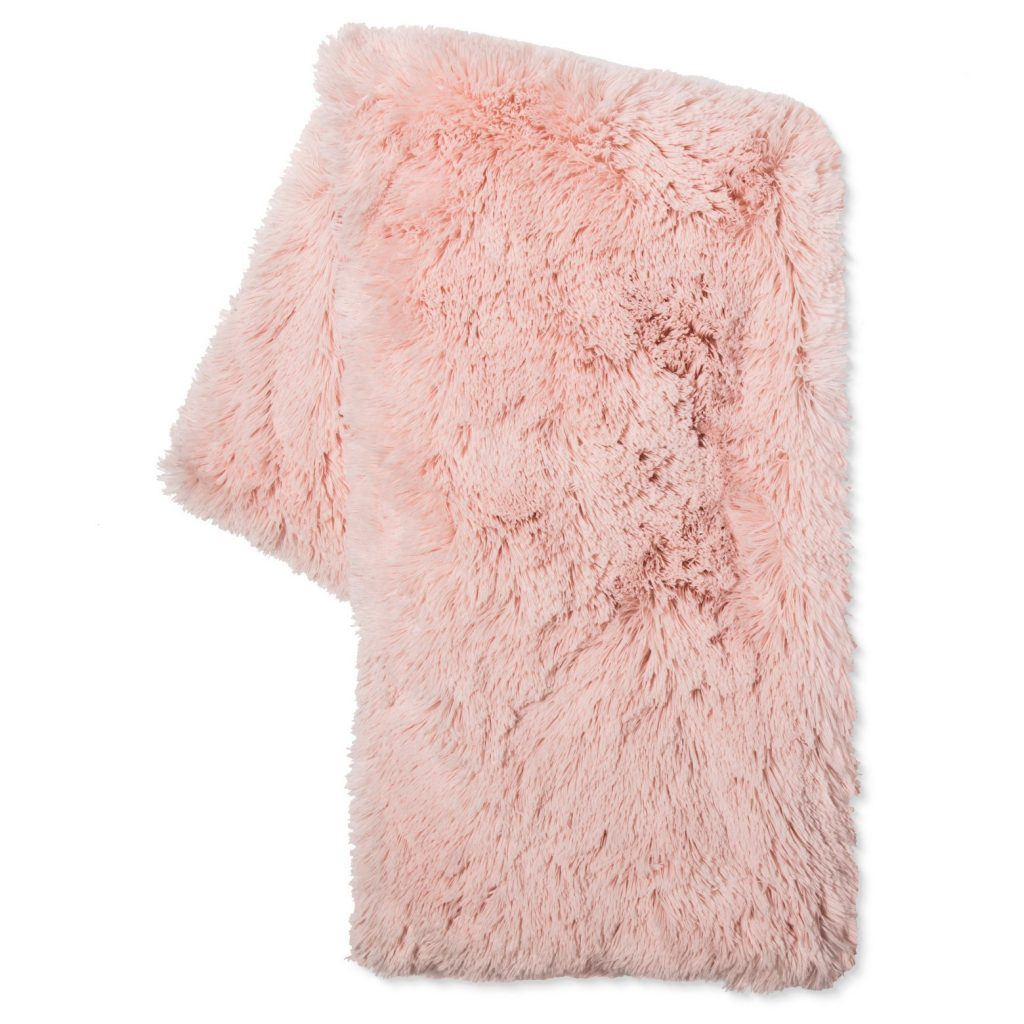 Blush Faux Fur Throw | Target