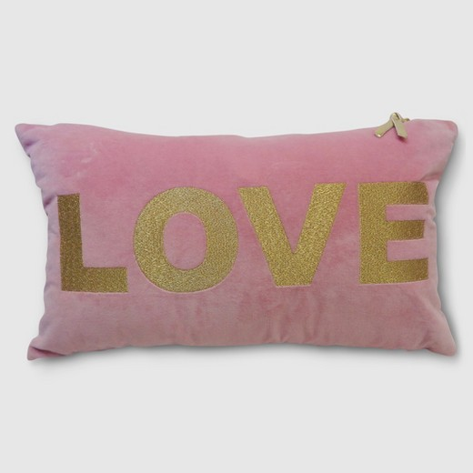 Pink and Gold Love Throw Pillow | Target