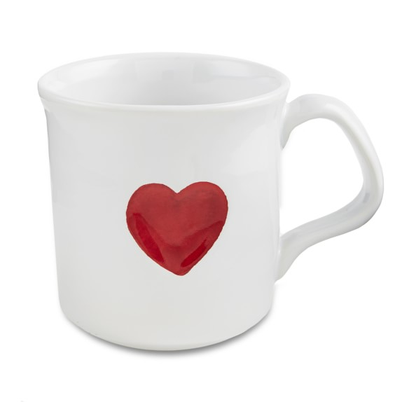 Williams Sonoma Heart Mug