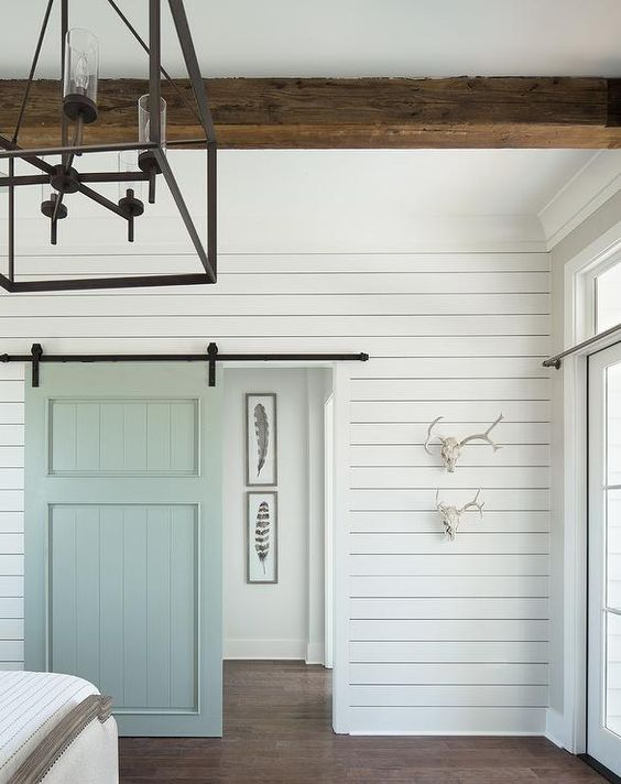 Shiplap Painted White