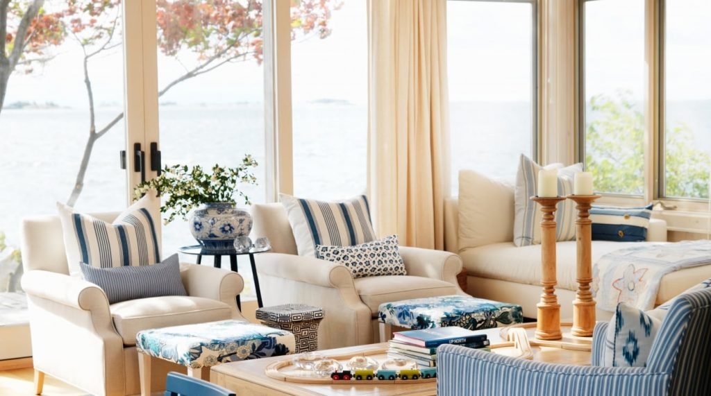Beach House Living Room by Sarah Richardson | RevolvingDecor.com