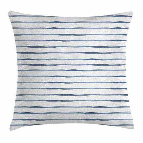 Summer Stripes: Striped Abstract Ocean Square | RevolvingDecor.com