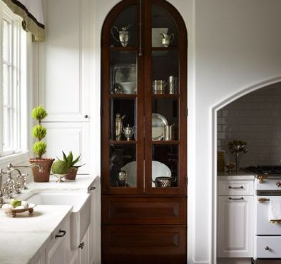 Kitchen Pantry with Vintage Doors