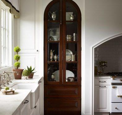 Kitchen Pantry with Vintage Doors