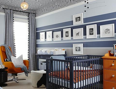 Nursery, orange, wall decor