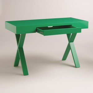 Desk, cost plus, green