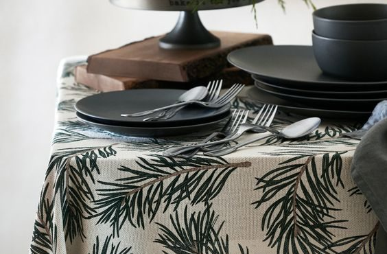 H&M Home Holiday Branch Tablecloth