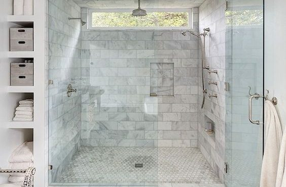 Marble Shower with window